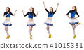 Cheerleader isolated on the white background 41015381
