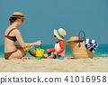 beach, family, boy 41016958