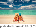 Couple on a beach at Maldives 41016975