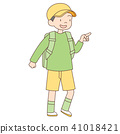 초등학생 7 살 소년 _ 하이킹 41018421