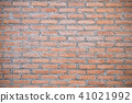 red brick wall background. 41021992