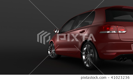 Compact car on black background 41023236