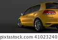 Compact car on black background 41023240
