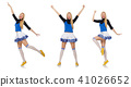 Cheerleader isolated on the white background 41026652