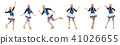 Cheerleader isolated on the white background 41026655