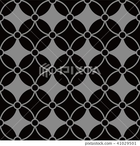 Antique silver seamless retro pattern background 41029501