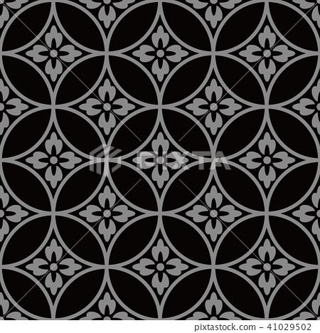 Antique silver seamless retro pattern background 41029502