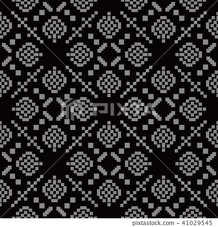 Antique silver seamless retro pattern background 41029545