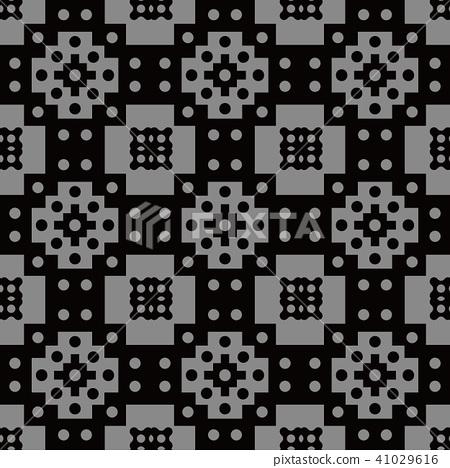 Antique silver seamless retro pattern background 41029616