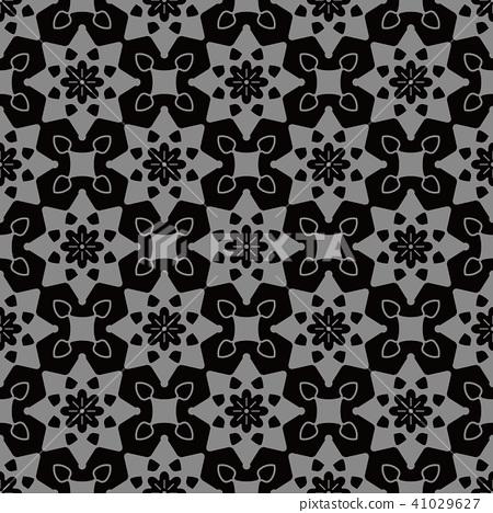 Antique silver seamless retro pattern background 41029627