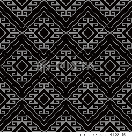 Antique silver seamless retro pattern background 41029693