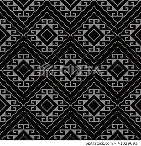Antique silver seamless retro pattern background 41029693