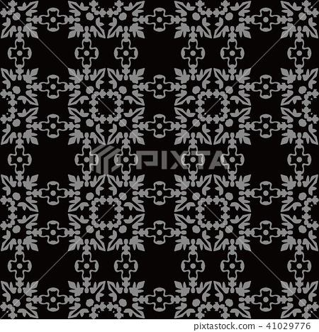 Antique silver seamless retro pattern background 41029776