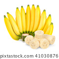 Bunch of banana isolated on the white background 41030876