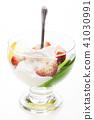 dessert, strawberry, cream 41030991