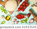 Pizza ingredients 41033545