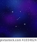 오리온 자리와 밤하늘의 별빛 41034624