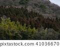 มุมมองของภูเขาในประเทศญี่ปุ่นที่เห็นได้จากบริเวณโดยรอบของเมือง Yufu จังหวัดโออิตะ Kin Lake Lake 41036670