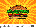 Fast food Burger, hamburger 41038988