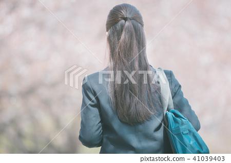 여고생, 여자 고등학생, 뒷 모습 41039403