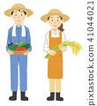 農業作物的男女 41044021