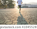 Young fitness sports man running for exercise with 41045528