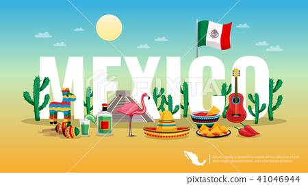 Mexico Colorful Horizontal Composition 41046944