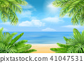 sea, tropical, bush 41047531