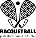 Racquetball bats with ball 41049262