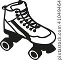 Rollerblades outline 41049464