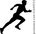 Running Sprint Silhouette 41049553