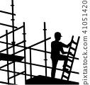 Scaffolder working on site 41051420