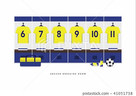 Sweden Football or soccer team dressing room. 41051738