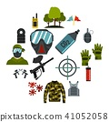 paintball, icons, set 41052058