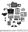 business, icons, set 41052313