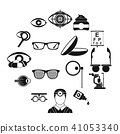 ophthalmologist, tools, icon 41053340