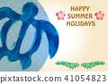 海龜 夏季賀卡 賀卡 41054823