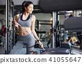 女性健身健身房飲食 41055647