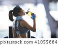 女性健身健身房休息 41055664