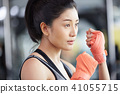 女性健身健身房拳擊手大小 41055715