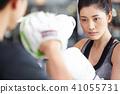 女性健身健身房拳擊手大小 41055731