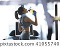 女性健身健身房休息 41055740