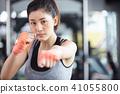 女性健身健身房拳擊手大小 41055800