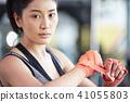 女性健身健身房拳擊手大小 41055803