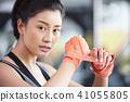 女性健身健身房拳擊手大小 41055805
