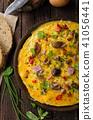 Fresh omelette, pickles mushrooms and chilli 41056441
