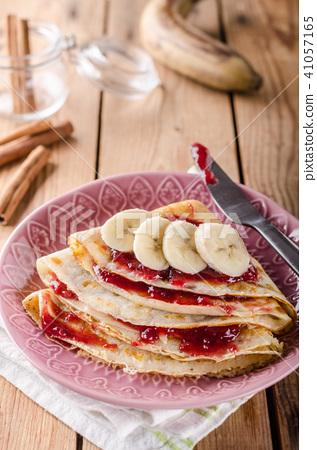 Crepes bio homemade, food photography, delish dessert 41057165