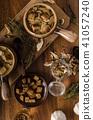 Rustic mushrooms soup 41057240