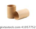 Rolls of cardboard on white 41057752