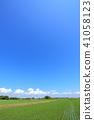 치바현 쵸 마을의 전원 풍경 41058123